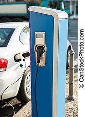 existens, bil, recharged, elektrisk