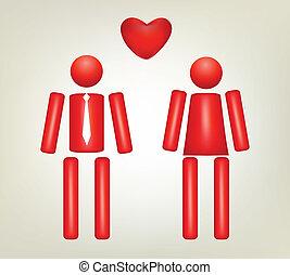 existenser, kärlek, två