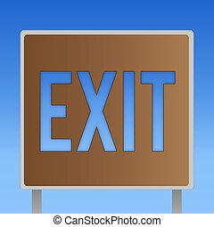 exit., 事務, 相片, 顯示, 斜坡梯, 離開, 離開, 概念性, 交通, 罐頭, 方式, showcasing, 地方, 寫, 那裡, 手, 高速公路, 在外