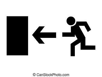 exit - black  icon