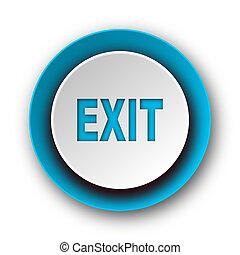 exit blue modern web icon on white background