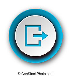 exit blue modern web icon on white background