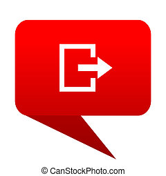 Exit bubble red icon