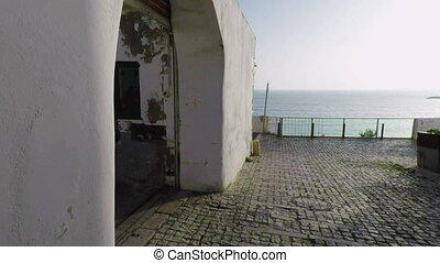 Exit from the narrow streets to the sea in Albufeira....