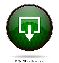 exit green internet icon