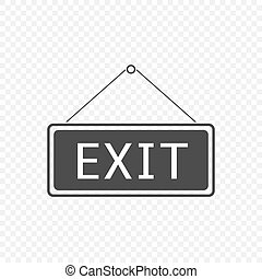 Exit Hanging sign