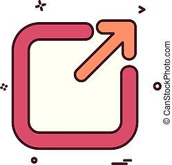 Exit icon design vector