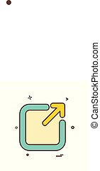 Exit icon design vector