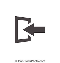 Exit icon graphic design template vector