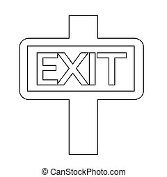 EXIT icon illustration design