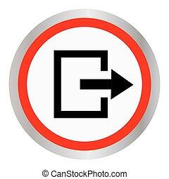 Exit icon. Vector
