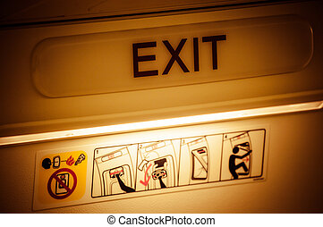 Exit in airplane