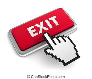 exit keyboard concept 3d illustration