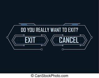 Exit Menu - Hi-tech game exit menu