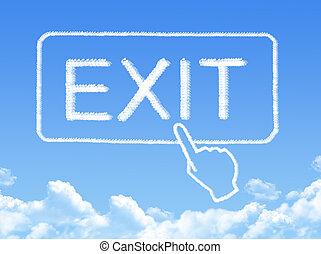Exit message cloud shape