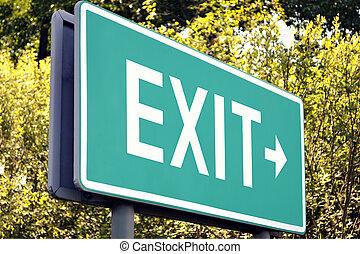Exit - next exit sign