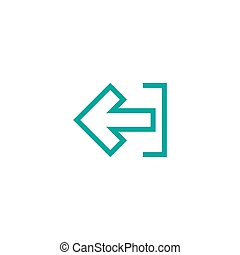 Exit or logout, log off icon. Isolated on white. blue left squared arrow with bracket. Sign out icon. Profile, user sign. Arrow in box. quit, export, file, import, share