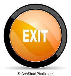 exit orange icon