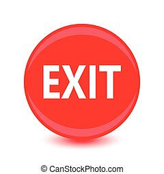 exit red glossy circle icon