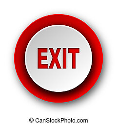 exit red modern web icon on white background