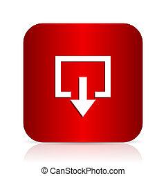 exit red square modern design icon