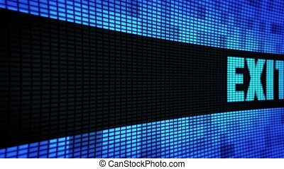 Exit Side Text Scrolling LED Wall Pannel Display Sign Board