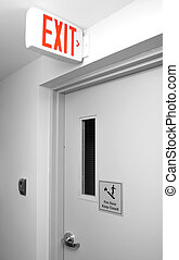 Exit sign for stairway