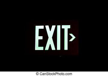 Exit Sign on Black