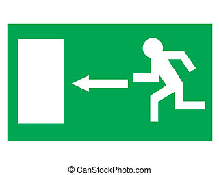 exit signal - illustration of an exit signal for security