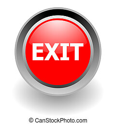 exit steel glosssy icon