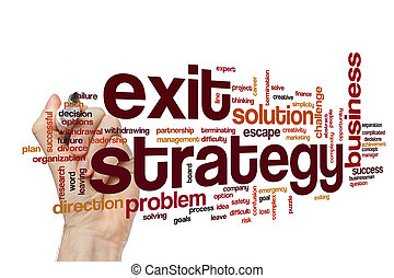 Exit strategy word cloud concept