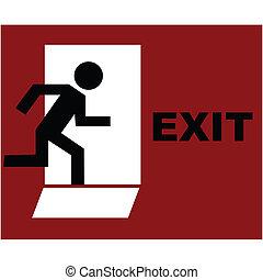 Exit symbol in red