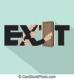 Exit Typography Design Vector Illustration