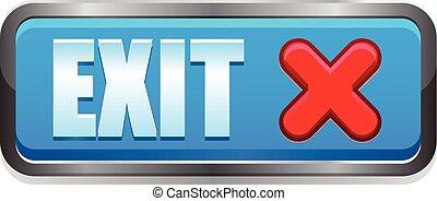 Exit vector button icon