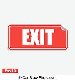 exit web sticker button. eps 10