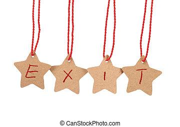 Exit word