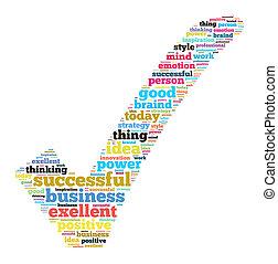 exitoso, concepto, empresa / negocio, Ilustración