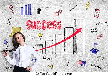 exitoso, concepto, empresa / negocio