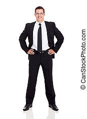 exitoso, hombre de negocios, retrato