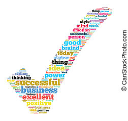 exitoso, ilustración negocio, concepto