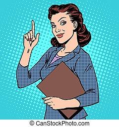exitoso, mujer de negocios, hembra
