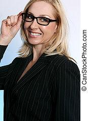 exitoso, mujer de negocios