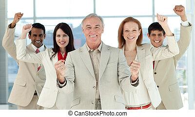 exitoso, negocio internacional, gente