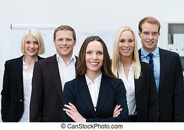 exitoso, seguro, equipo negocio