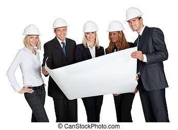 exitoso, trabajadores construcción
