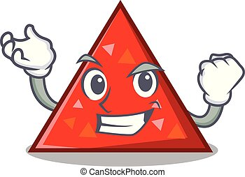 exitoso, triangel, carácter, estilo, caricatura