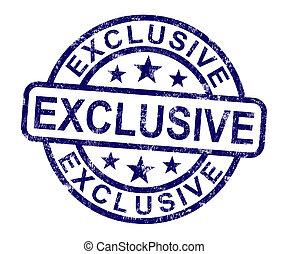 exklusiv, produkt, selten, begrenzt, briefmarke, shows