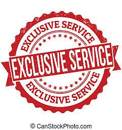 exklusiv, service, briefmarke