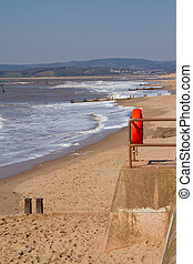 Exmouth beach Devon UK
