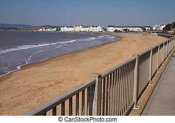 Exmouth Devon South West England a popular tourist resort